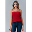 Hearts & Hips Smocking Cami Top AC34580-T | Red