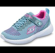 Skechers Kids' Bobs Squad Glitter Madness Sneaker 85681L Mint/Pink