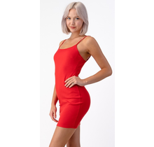 Hearts & Hips Bodycon Cami Dress | Red