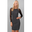 Hearts & Hips Sleeve Mesh Print Detail Dress | Black/Soft White