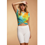 Hearts & Hips Front Twist Tie Dye Tee | Sunny Lime Combo