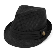 Trilby Fedora with Black Band & Button | Black