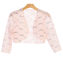 EVA USA Lace Sequins Cardigan 3278 | Blush