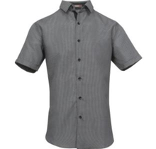 St. Patrick Microfiber Dress Shirt MSL23A | Black/White
