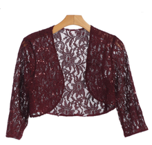 EVA USA Lace Sequins Cardigan 3278 | Burgundy