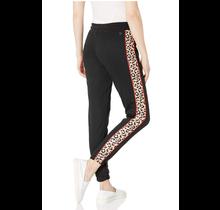 Southpole Juniors Tech Fleece Jogger Sweat Pants | Black/Leopard/Red