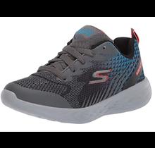 Skechers Big Boys' Go Run 600 Hendox Sneaker | Black/Charcoal/Blue 97857