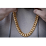 Golden Gilt Golden Gilt 14mm Cuban Link Necklace 18K Plated 30""