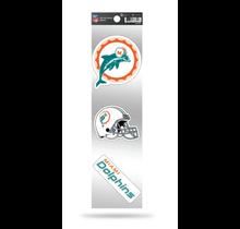 Miami Dolphins 3-Piece Retro Spirit Decals