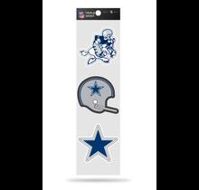 Dallas Cowboys 3-Piece Retro Spirit Decals Sticker