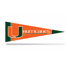 "Miami Hurricanes  Middle Man Pennant - 12"" x 30"""