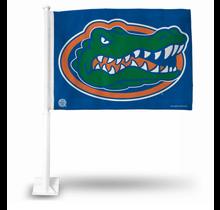 Florida Gators  Blue Mean Head Car Flag