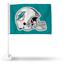 Rico Industries Miami Dolphins Helmet Car Flag Teal Background