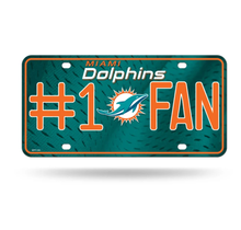 Miami Dolphins #1 Fan Primary Logo Metal Tag