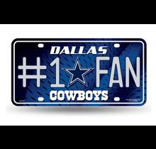Dallas Cowboys #1 Fan Primary Logo Metal Tag