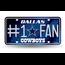 Rico Industries Dallas Cowboys #1 Fan Primary Logo Metal Tag