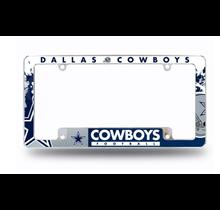 Dallas Cowboys All Over Chrome Frame