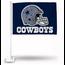 Rico Industries Dallas Cowboys Car Flag Blue Bkg Helmet