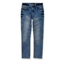 Southpole Big Boys' Destructed Ripped Moto Jeans 20325-3115 | Ice Blue