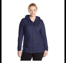 Just My Size Women's Full Zip Jersey Hoodie  OJ168 | Navy