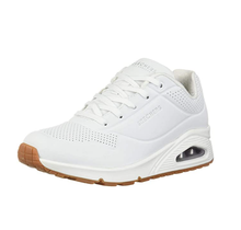 Skechers Women's Street Uno-Stand on Air Sneaker 73690 | White/Gum