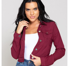 YMI Junior Hyperstretch Jacket - Maroon / Burgundy -  J91431