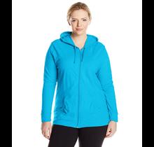 Just My Size Women's Full Zip Jersey Hoodie  OJ168 | Process Blue