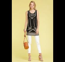 monoreno Woven Sleeveless Textured Short Dress | Black