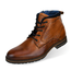 Asher Green Mens Genuine Leather Lace Up Boot w/ Reptile Pattern : Style AG6203