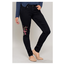 Royalty For Me Women's Floral Embroidery Skinny Jean