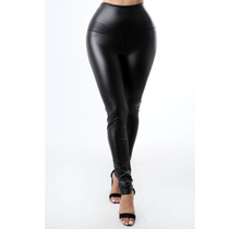 High Waist Faux Leather Legging Pant