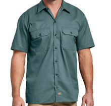 Dickies Short Sleeve Twill Work Shirt Original Fit 1574LN, Lincoln Green