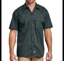 Dickies Short Sleeve Twill Work Shirt Original Fit 1574GH, Hunter Green