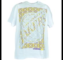 Los Angeles Lakers Kaleidoscope White T-shirt