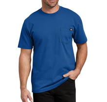 Dickies Men's Heavyweight Short Sleeve Tee, Royal Blue | WS450RB