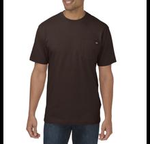 Dickies Men's Heavyweight Short Sleeve Tee, Chocolate | WS450CB