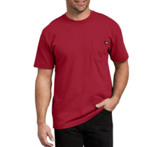 Dickies Men's Heavyweight Short Sleeve Tee, English Red | WS450ER