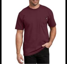 Dickies Men's Heavyweight Short Sleeve Tee, Burgundy | WS450BY