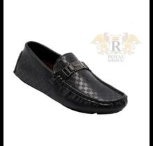 Big Kids' Slip On Dress Shoe w/ buckle accent Adam-11