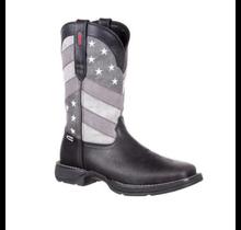 Durango Men's DDB0125 Western Boot, Faded Black Flag