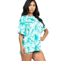 Women's Tie-dye Printed Oversized Shirt