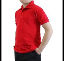 Galaxy Unisex School Uniform Polo  | Red