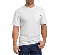 Dickies Men's Heavyweight Short Sleeve Tee, White | WS450WH