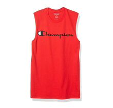 Champion Men's Classic Jersey Muscle Tee, Script Logo GT22H Y07718 - Scarlet Red