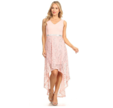 Techno Crepe Hi-Low  Formal Dress N1095