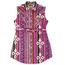Wrangler Wrangler Girl's Sleeveless Aztec Print Western Snap Shirt Dress GWD659