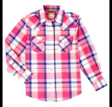 Girl's L/S Plaid Western Snap Shirt GW6720