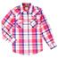 Wrangler Girl's L/S Plaid Western Snap Shirt GW6720