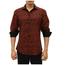 BC Men's Button-Up Long Sleeve Dress Shirt, Red 192384