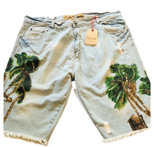 Evolution In Design Men's Painted Palm Tree Shorts